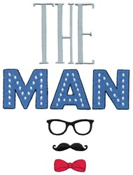 The Man embroidery design