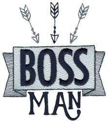 Boss Man embroidery design