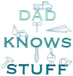 Dad Knows Stuff embroidery design