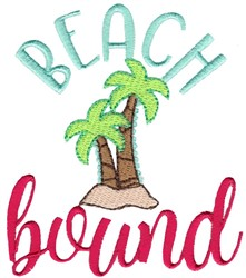 Beach Bound embroidery design