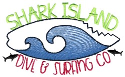 Shark Island Dive And Surfing Co embroidery design