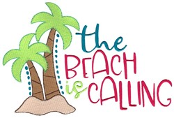 The Beach Is Calling embroidery design