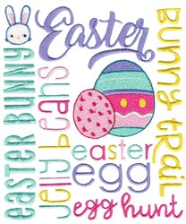 Easter Subway Art embroidery design