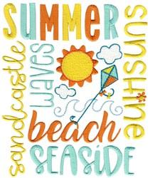 Summer Subway Art embroidery design