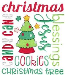 Christmas Subway Art embroidery design
