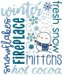 Winter Subway Art embroidery design
