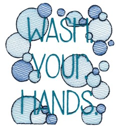 Wash Your Hands embroidery design