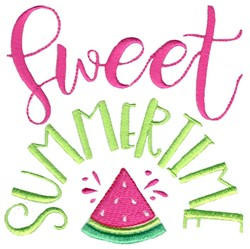 Sweet Summertime embroidery design