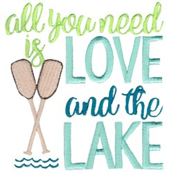 Love And The Lake embroidery design