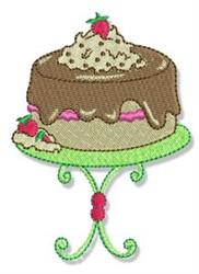 Swirly Cookbook Cake embroidery design