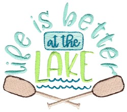Better At The Lake embroidery design