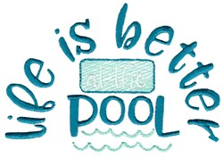 Better At The Pool embroidery design