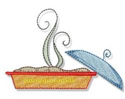 Swirly Cookbook Pie embroidery design