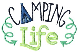 Camping Life embroidery design