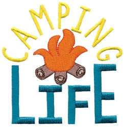 Campfire Camping Life embroidery design