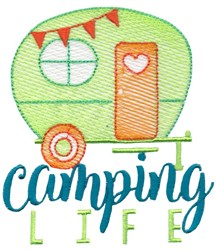 Camper Camping Life embroidery design