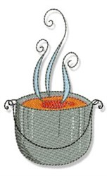 Swirly Cookbook Soup embroidery design