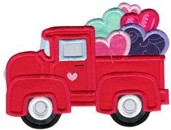 Valentines Day Vintage Truck embroidery design
