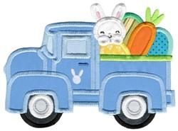 Easter Vintage Truck embroidery design