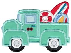 Summer Vintage Truck embroidery design