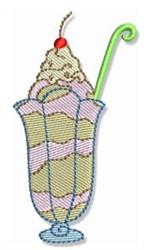 Swirly Cookbook Sundae embroidery design