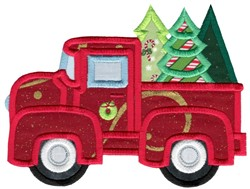 Christmas Vintage Truck embroidery design