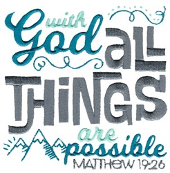 With God All Things Are Possible embroidery design