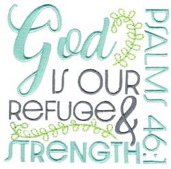 God Is Your Refuge embroidery design