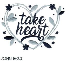 John 16:33 Take Heart embroidery design