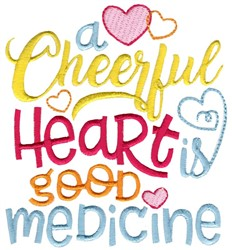 A Cheerful Heart embroidery design