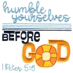 Humble Yourselves Before God embroidery design
