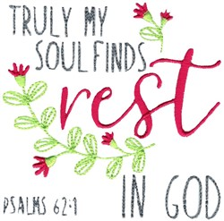 Find Rest In God embroidery design