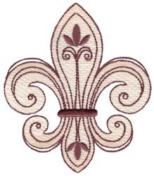 Sketch Fleur De Lis embroidery design