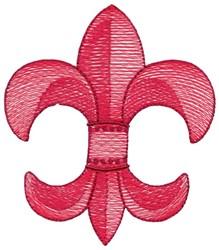 3D Sketch Fleur De Lis embroidery design