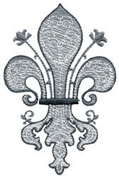 Decoration Sketch Fleur De Lis embroidery design