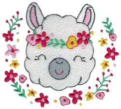 Llama & Laurel embroidery design