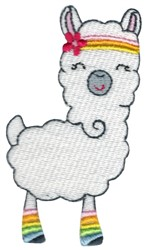 Exercise Llama embroidery design