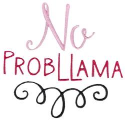 No Probllama embroidery design