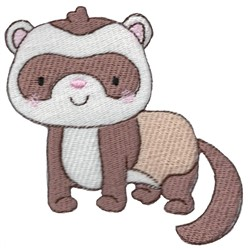 Pet Ferret embroidery design