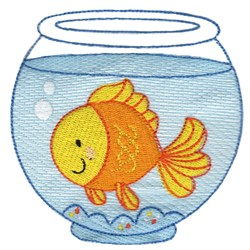 Pet Goldfish embroidery design