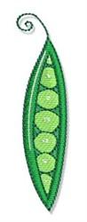 Swirly Cookbook Peapod embroidery design