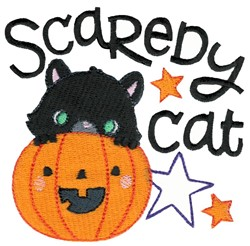 Scaredy Cat embroidery design