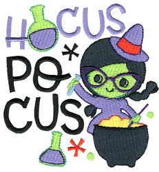 Hocus Pocus Witch embroidery design