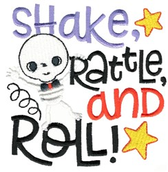 Shake Rattle And Roll Skeleton embroidery design