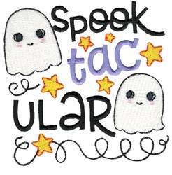 Spooktacular Ghosts embroidery design