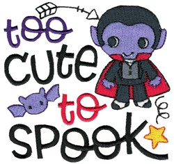 Too Cute To Spook Dracula embroidery design