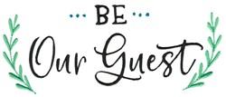 Be Our Guest embroidery design