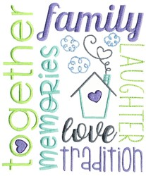 Family Subway Art embroidery design