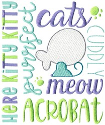 Cats Subway Art embroidery design