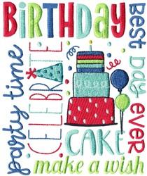 Birthday Subway Art embroidery design